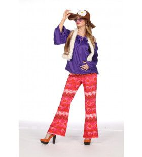 Lana Lammy Festival Hippie Vrouw Kostuum