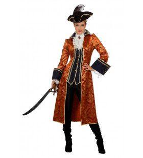 Zeerover Hoofdvrouw Kapitein Barbados Kostuum