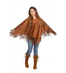 Love Is All Hippie Poncho Vrouw
