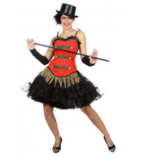 Rood Corset Theater Danseres Vrouw