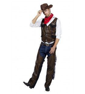 Cowboy Chaps Wilde Mustang Man Kostuum